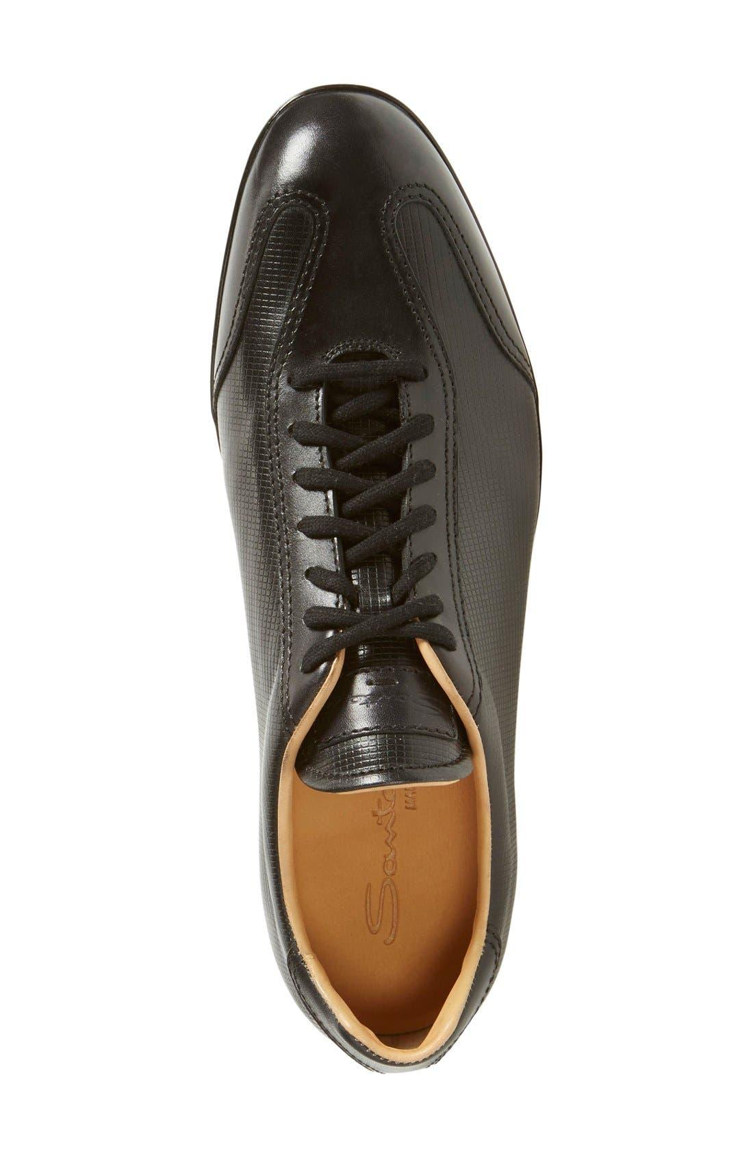 'Cortez' Sneaker,                             Alternate thumbnail 3, color,                             Black/ Black Leather