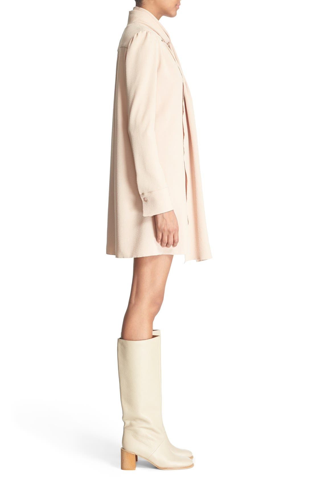 Alternate Image 3  - See by Chloé Tie Neck Crepe Dress