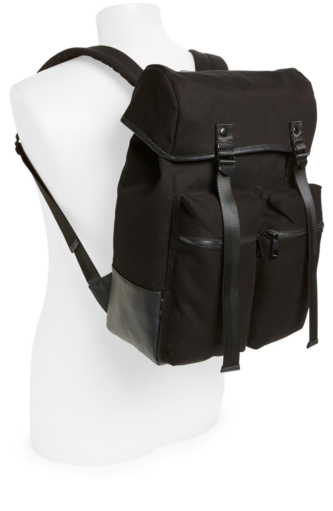 Alternate Image 2  - Topman Canvas Backpack