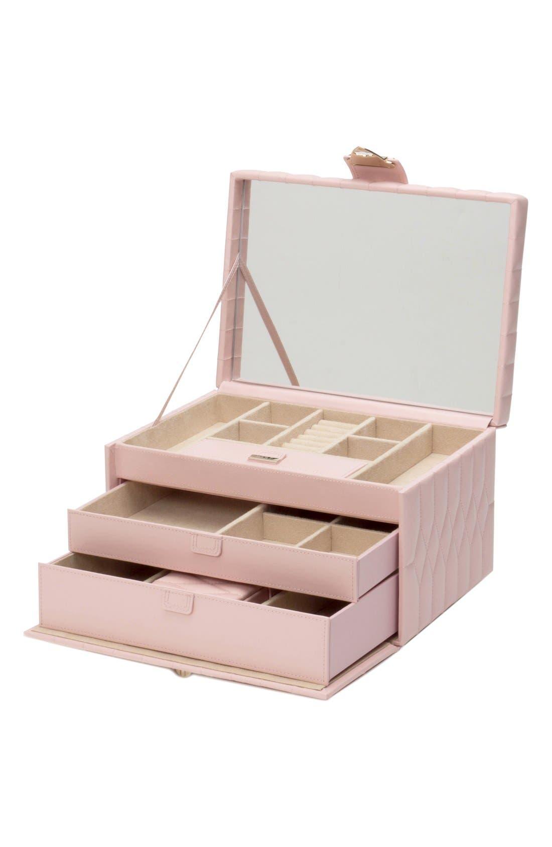 'Caroline' Jewelry Case,                             Alternate thumbnail 2, color,                             Rose Quartz
