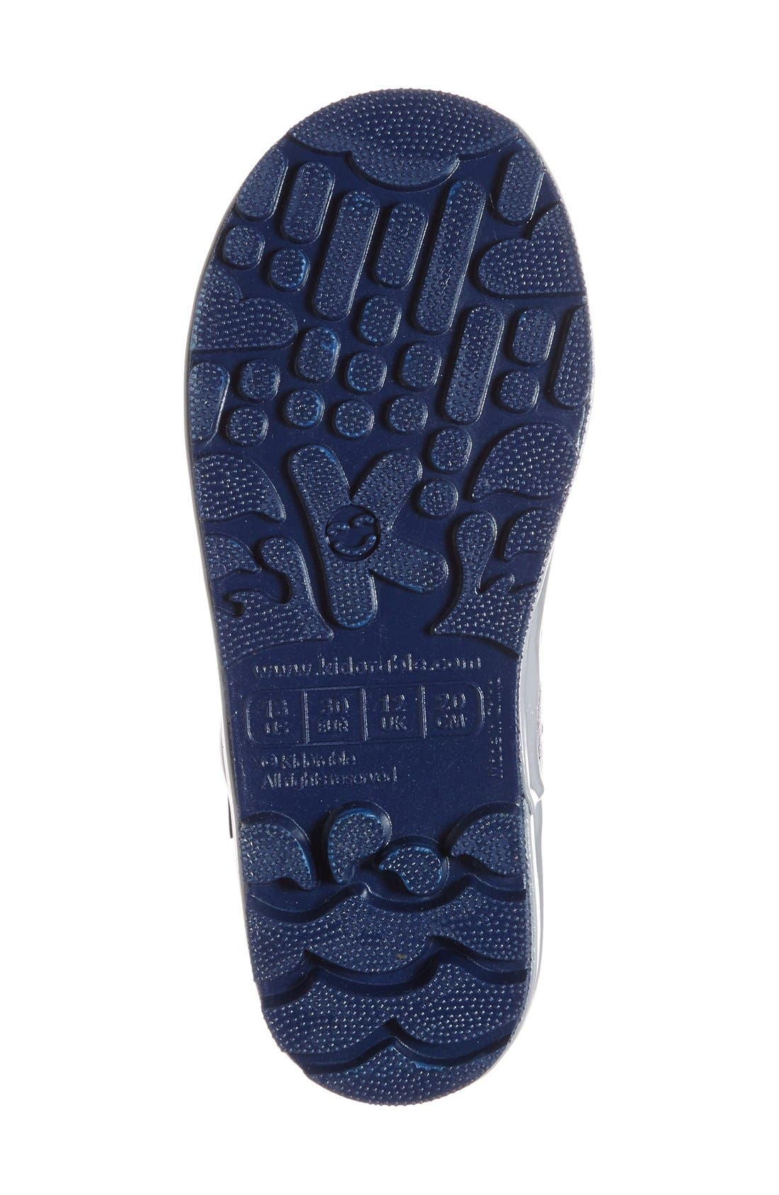 'Space Hero' Waterproof Rain Boot,                             Alternate thumbnail 4, color,                             Blue
