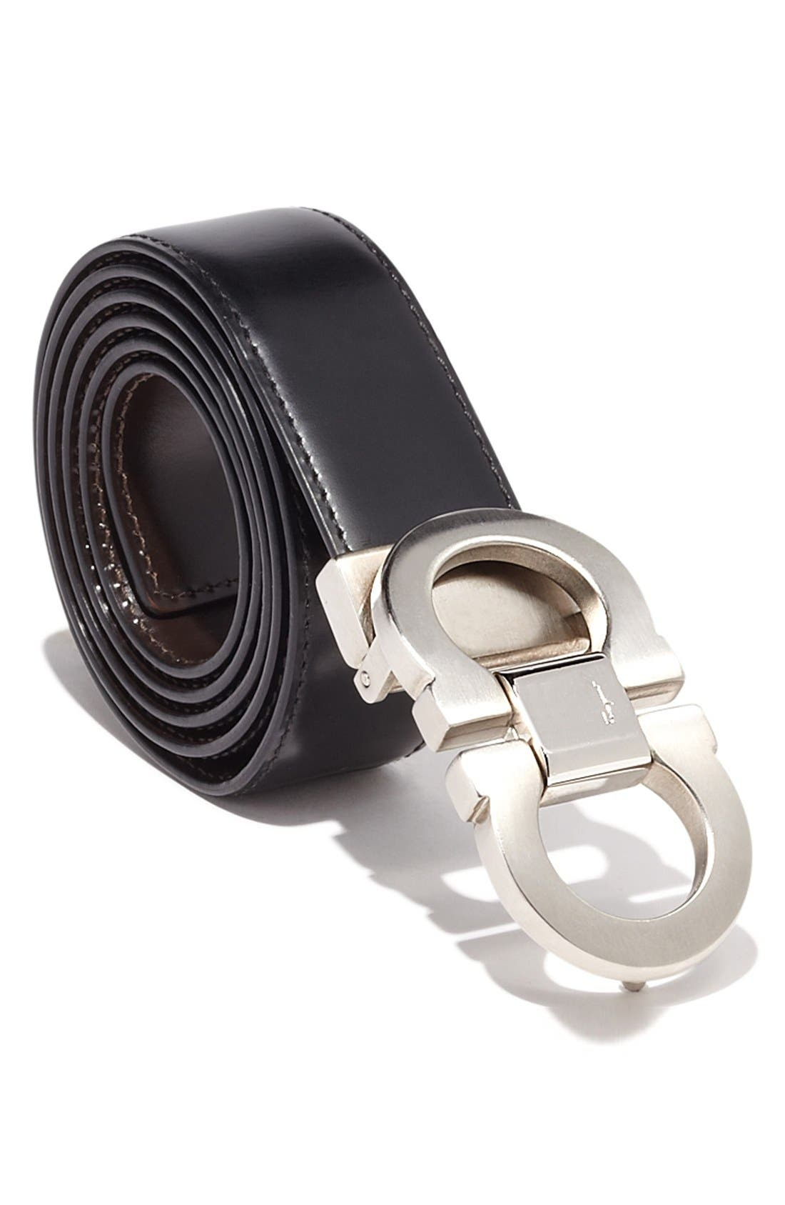 Alternate Image 2  - Salvatore Ferragamo Double Gancio Reversible Leather Belt