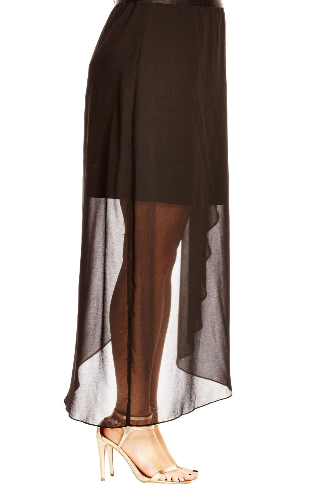 Alternate Image 3  - City Chic Layered Frill Skirt (Plus Size)