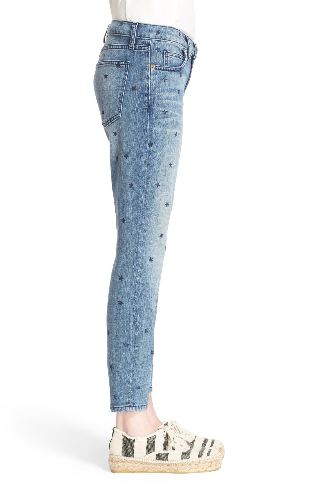 Alternate Image 3  - Current/Elliott 'The Stiletto' Star Print Skinny Jeans (Revival with Mini Navy Stars)