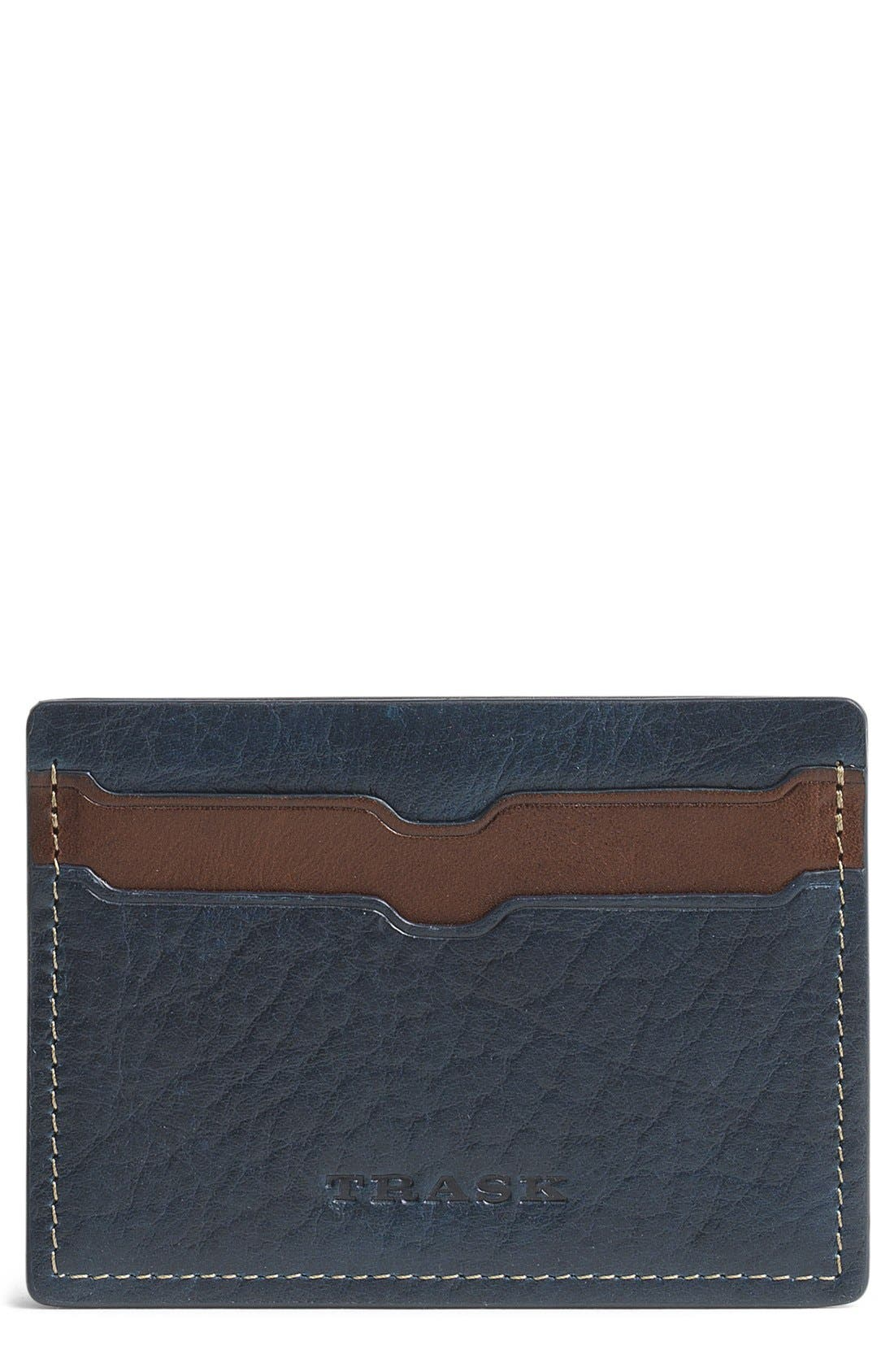 TRASK Jackson Leather Card Case