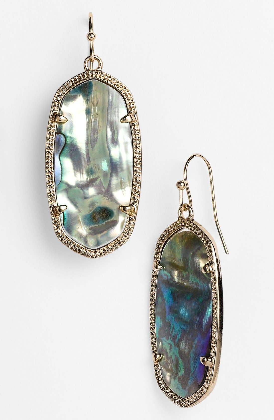 Elle Drop Earrings,                             Main thumbnail 1, color,                             Abalone Shell/ Gold