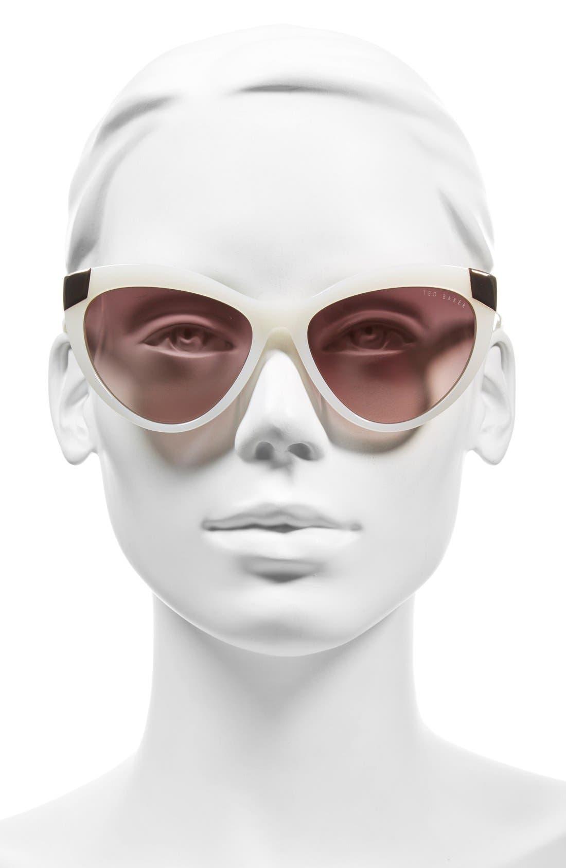 Alternate Image 2  - Ted Baker London 57mm Cat Eye Sunglasses