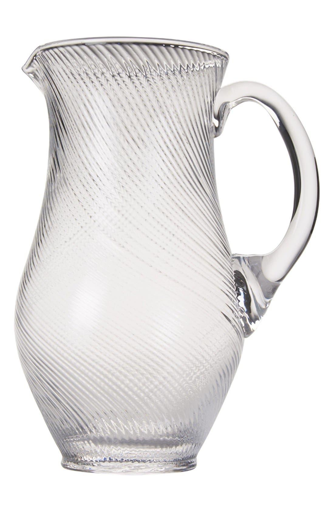 'Arabella' Glass Pitcher,                         Main,                         color, White
