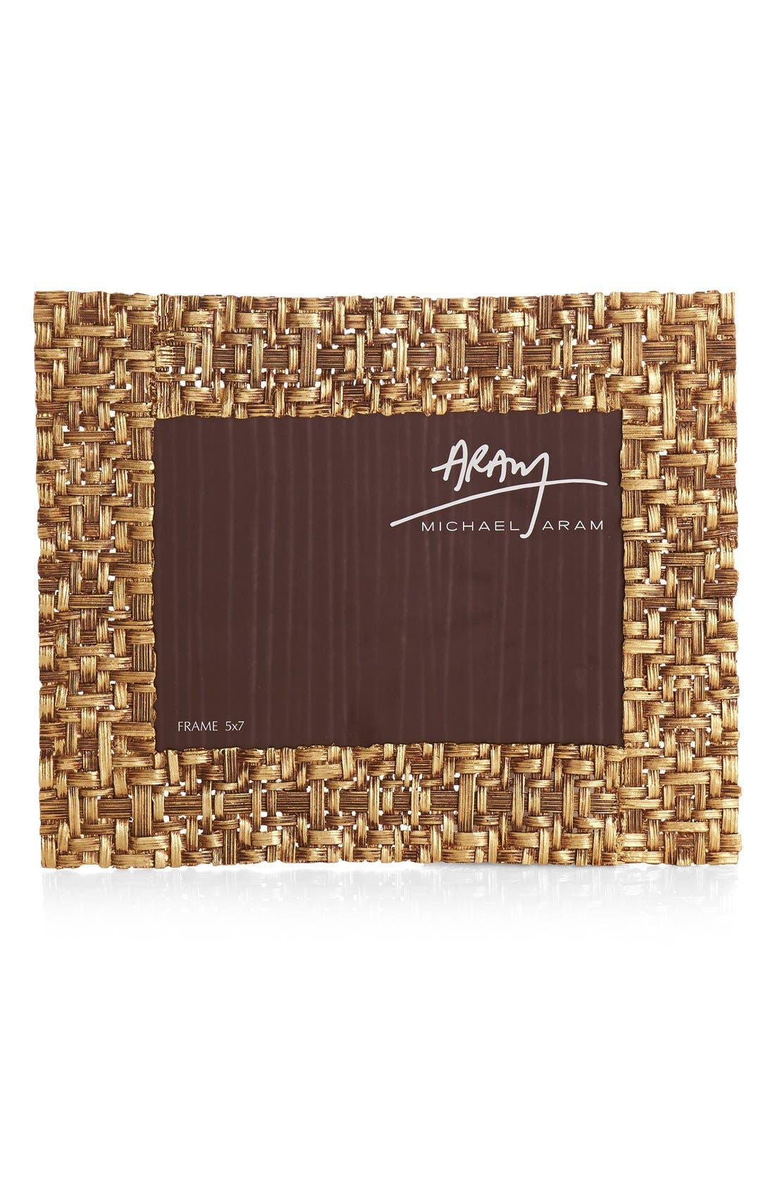 Palm Picture Frame,                             Main thumbnail 1, color,                             Gold