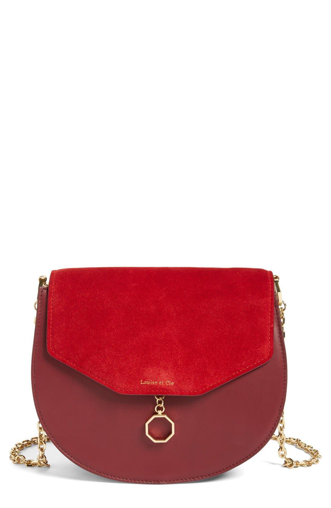 Alternate Image 1 Selected - Louise et Cie 'Jael' Suede & Leather Shoulder Bag