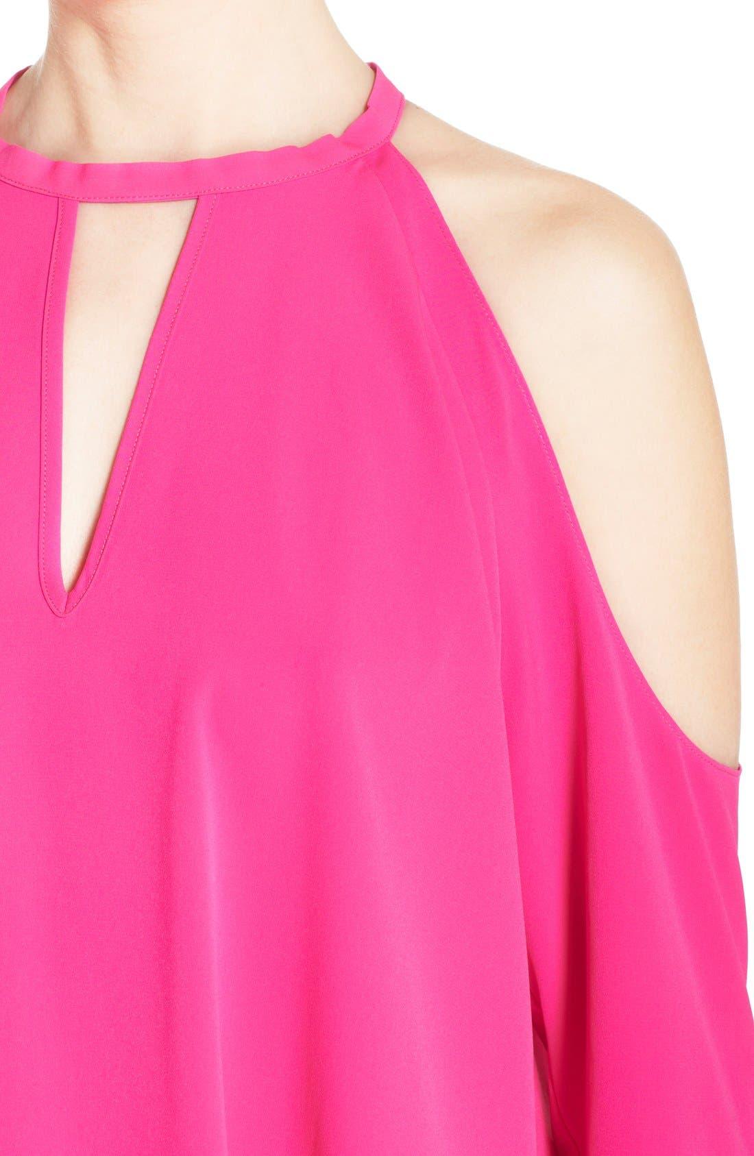 Alternate Image 4  - A by Amanda 'Jasmine' Cold Shoulder Shift Dress