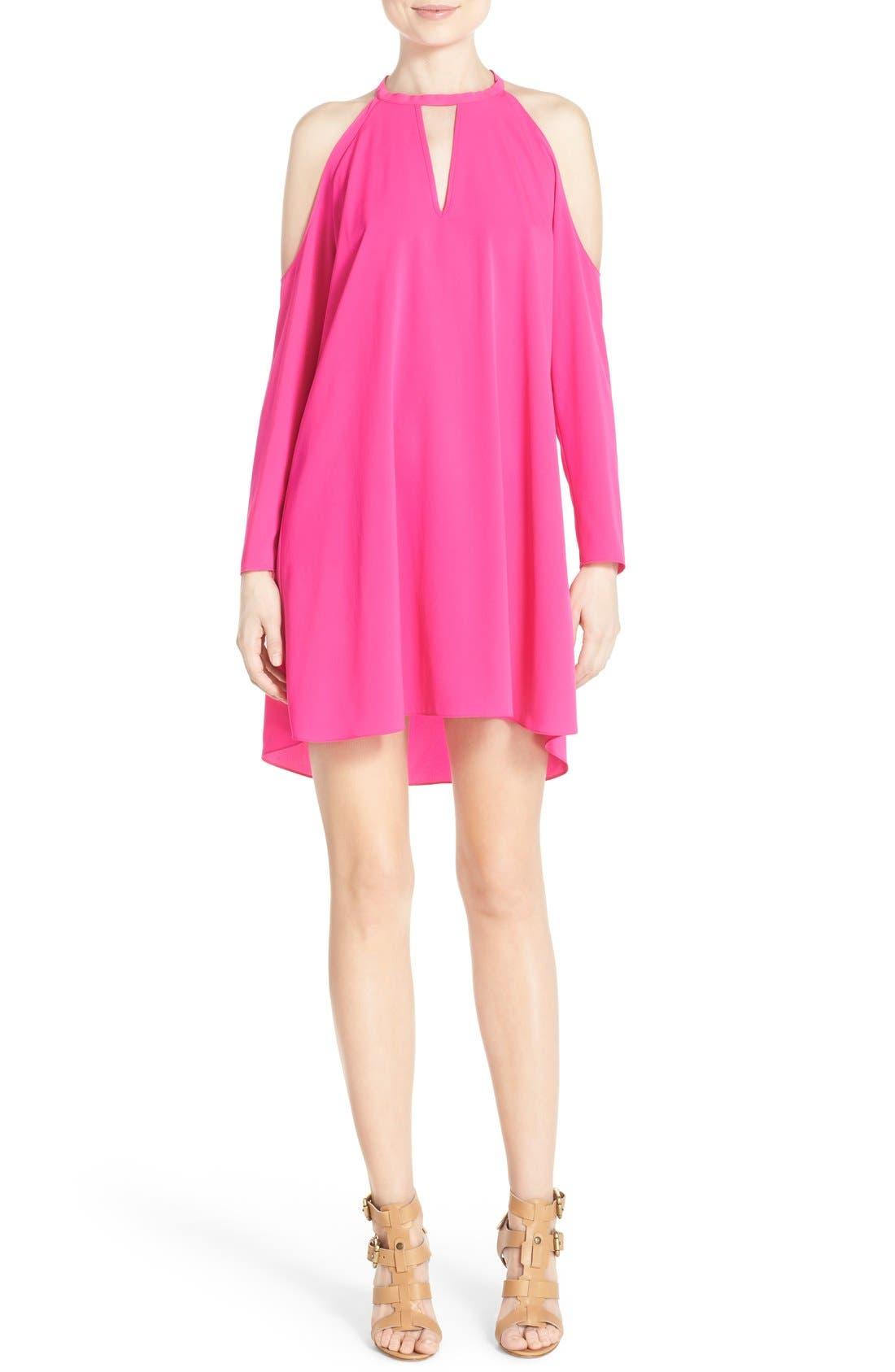 Alternate Image 1 Selected - A by Amanda 'Jasmine' Cold Shoulder Shift Dress