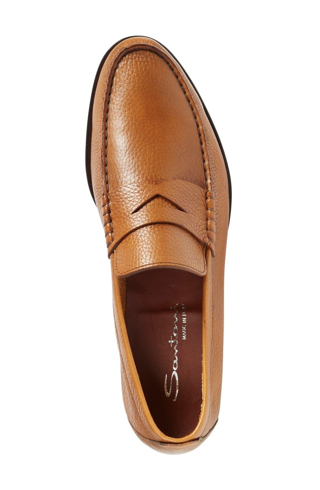 'Carmel' Penny Loafer,                             Alternate thumbnail 3, color,                             Tan Leather