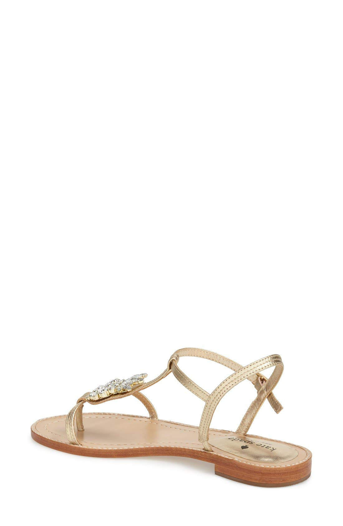 Alternate Image 2  - kate spade new york 'serafina' crystal pineapple flat sandal (Women)