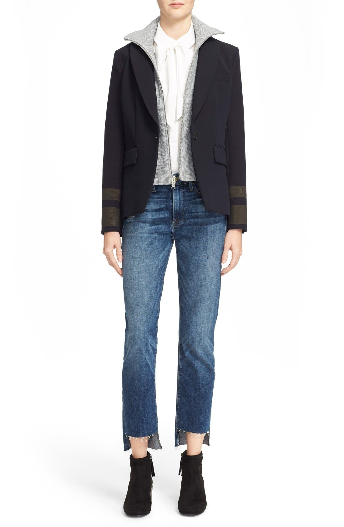 Alternate Image 2  - Veronica Beard Cutaway Jacket with Removable Knit Dickey