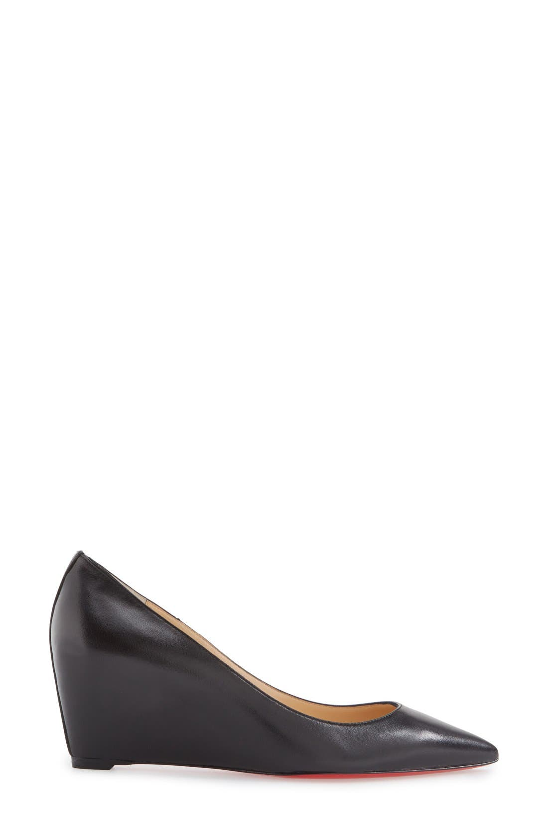 Alternate Image 4  - Christian Louboutin 'Pipina' Pointy Toe Wedge Pump