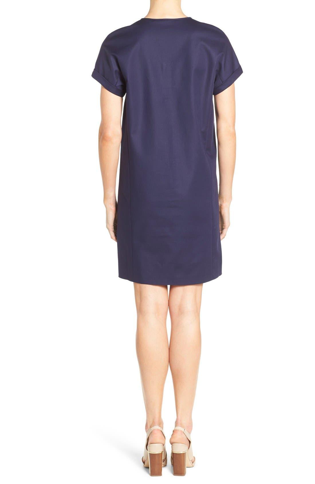 Alternate Image 2  - Nordstrom Collection Stretch Poplin Shift Dress