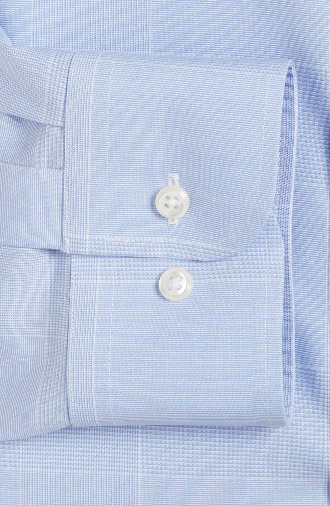 Smartcare<sup>™</sup> Trim Fit Plaid Dress Shirt,                             Alternate thumbnail 5, color,                             Blue Hydrangea
