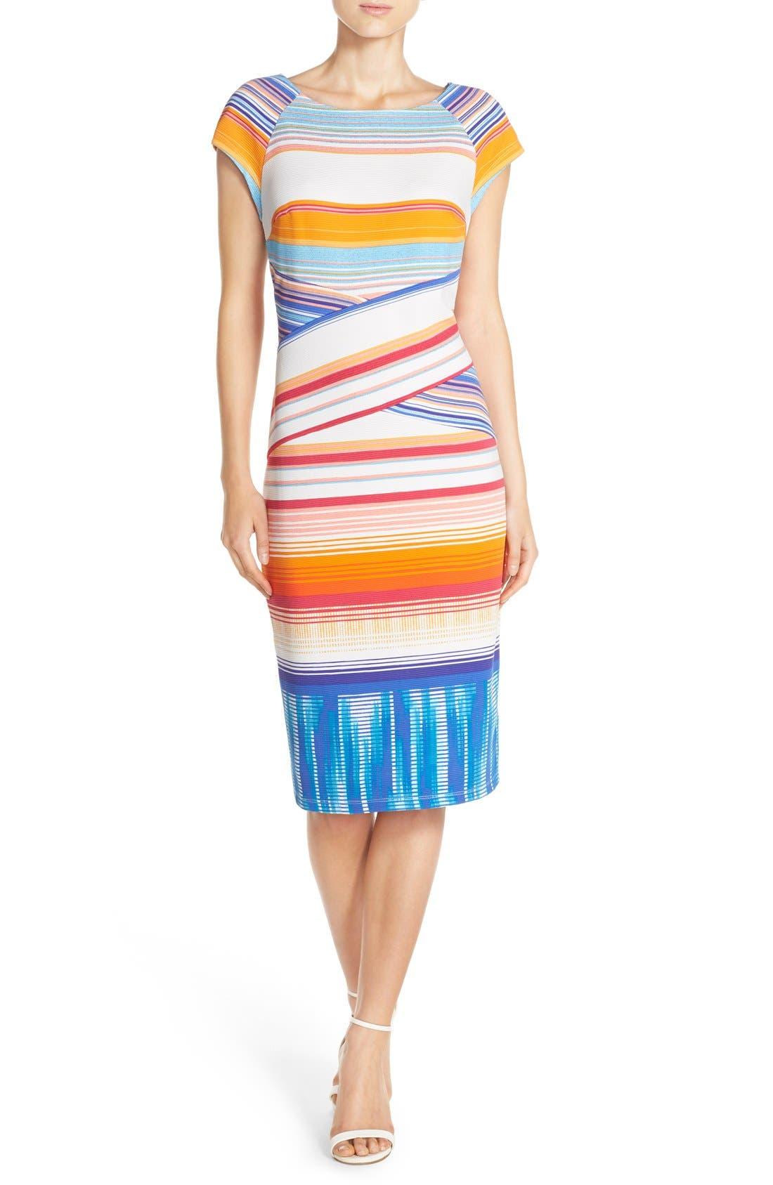 Alternate Image 1 Selected - ECI Stripe Knit Midi Dress