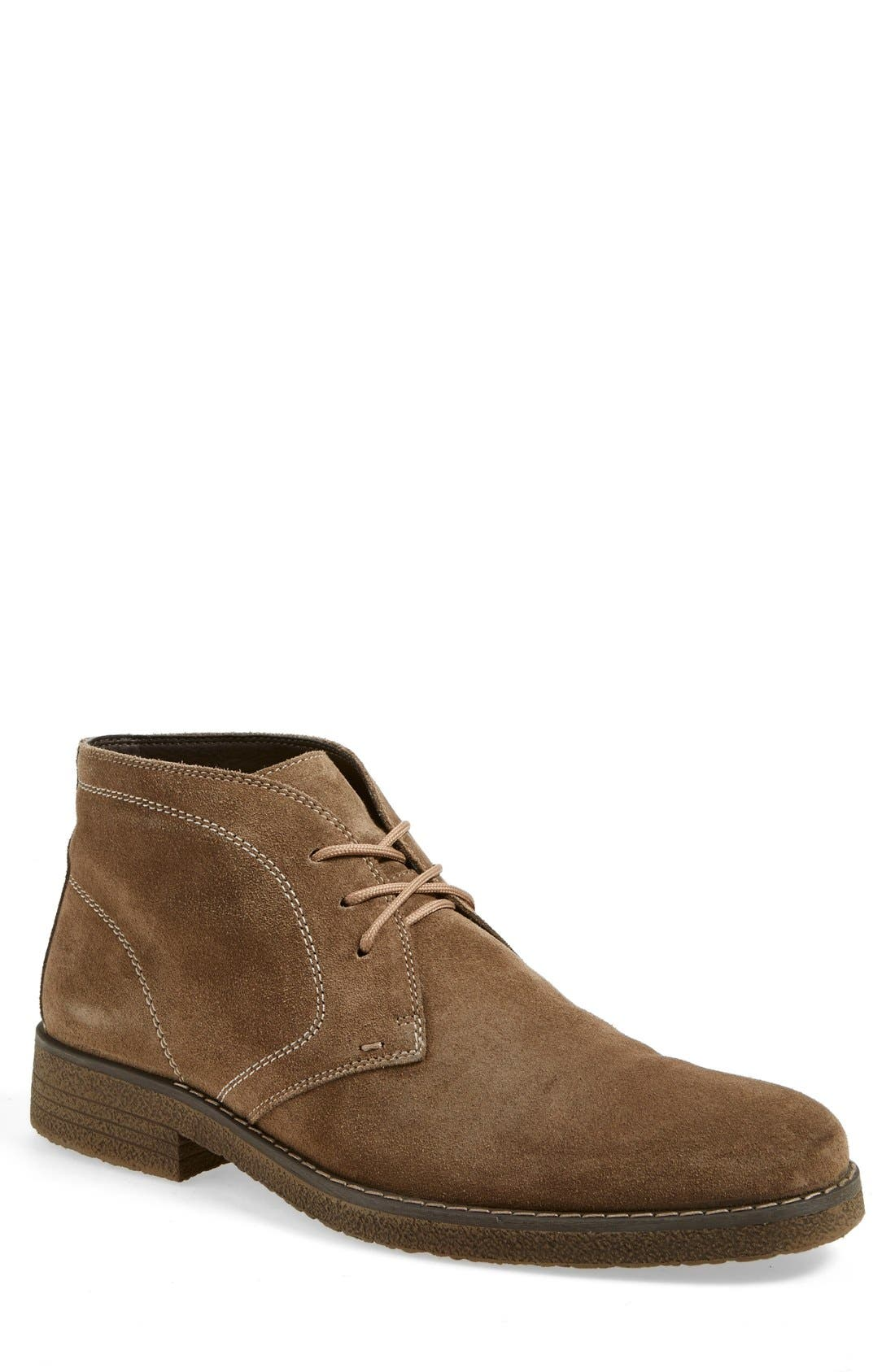 'Tyler' Chukka Boot,                             Main thumbnail 1, color,                             Taupe Suede