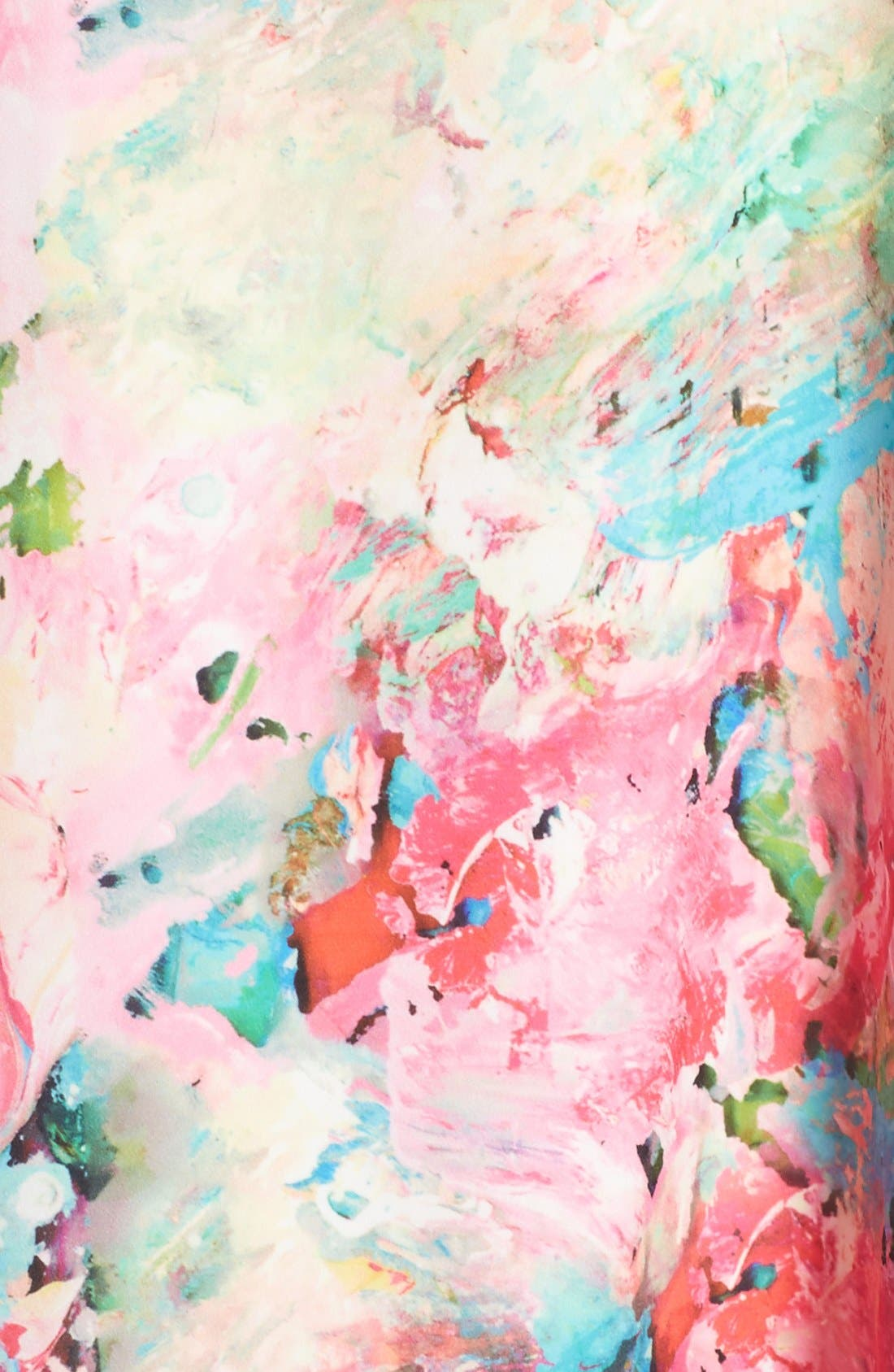 Alternate Image 6  - A by Amanda 'Zoe' Floral Print One Shoulder Dress