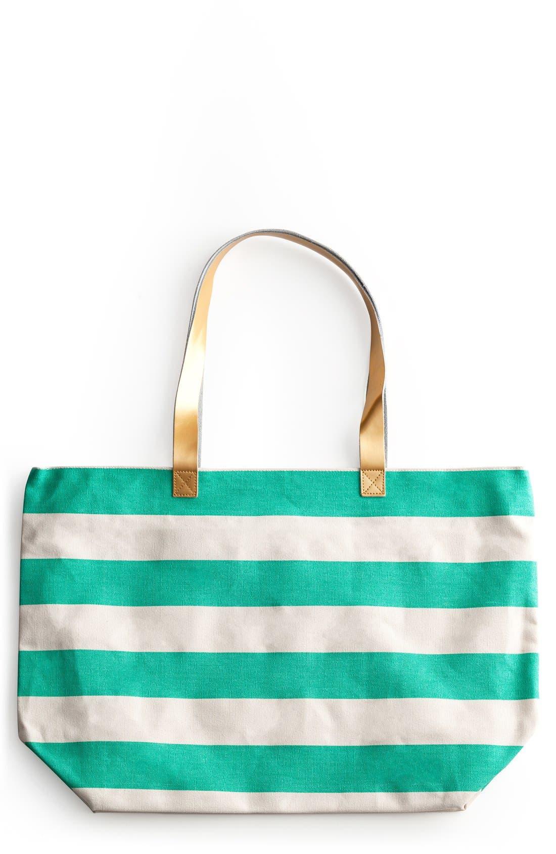 Stripe Tote,                         Main,                         color, Blue/ Green