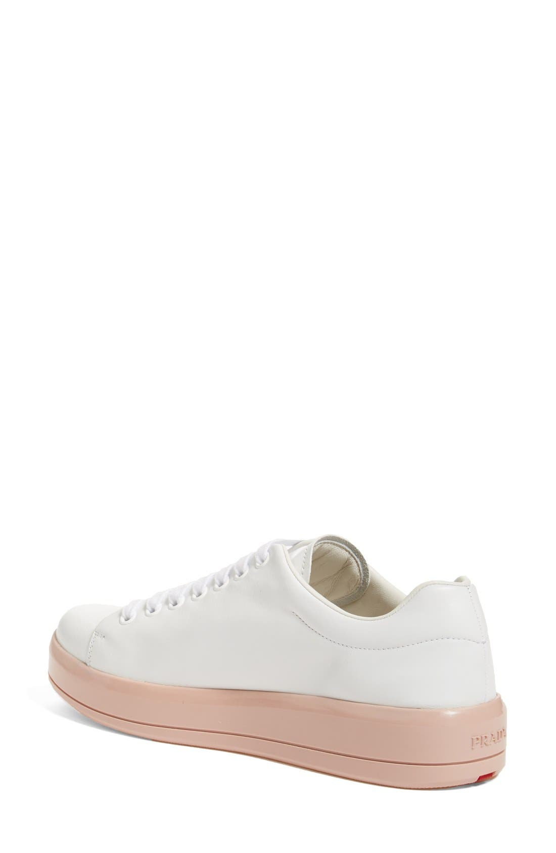 Alternate Image 2  - Prada Platform Lace-Up Sneaker (Women)