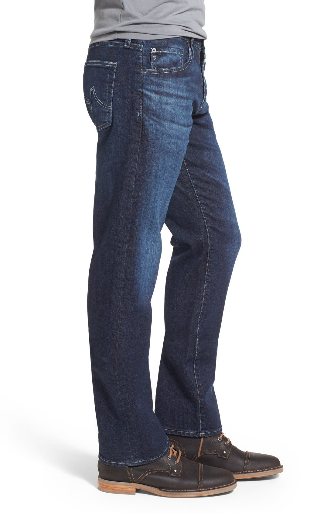 'Protégé' Straight Leg Jeans,                             Alternate thumbnail 3, color,                             Kingswell