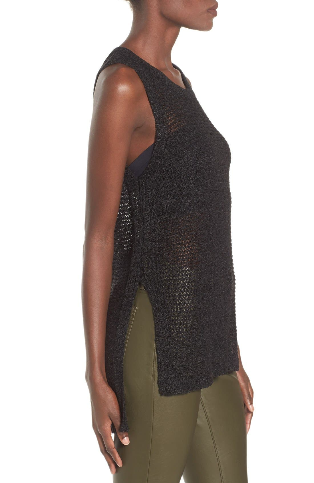 Alternate Image 3  - ASTR Side Slit Sweater Tank