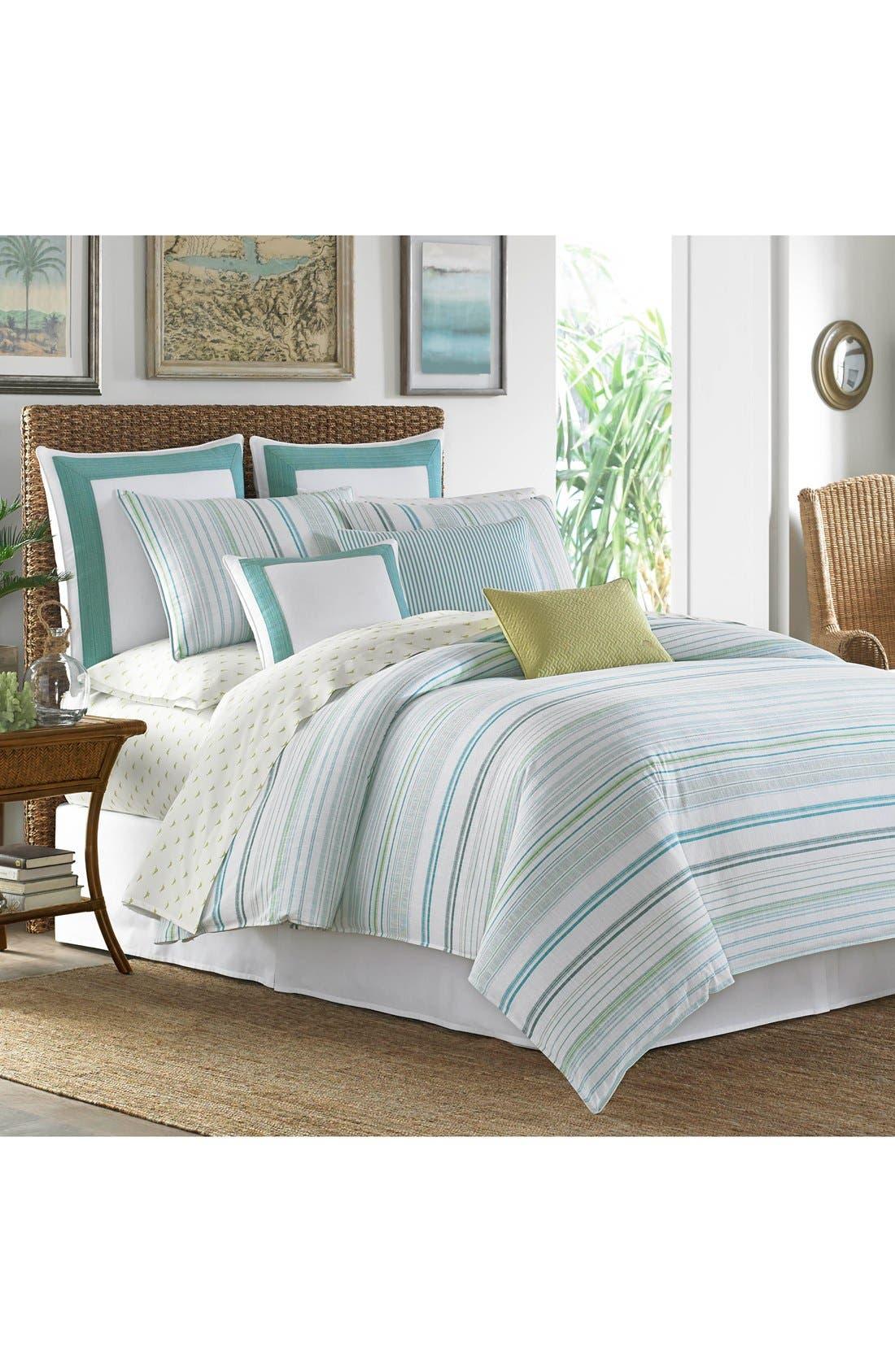 La Scala Breezer Comforter, Sham & Bed Skirt Set,                             Alternate thumbnail 2, color,                             Seaglass