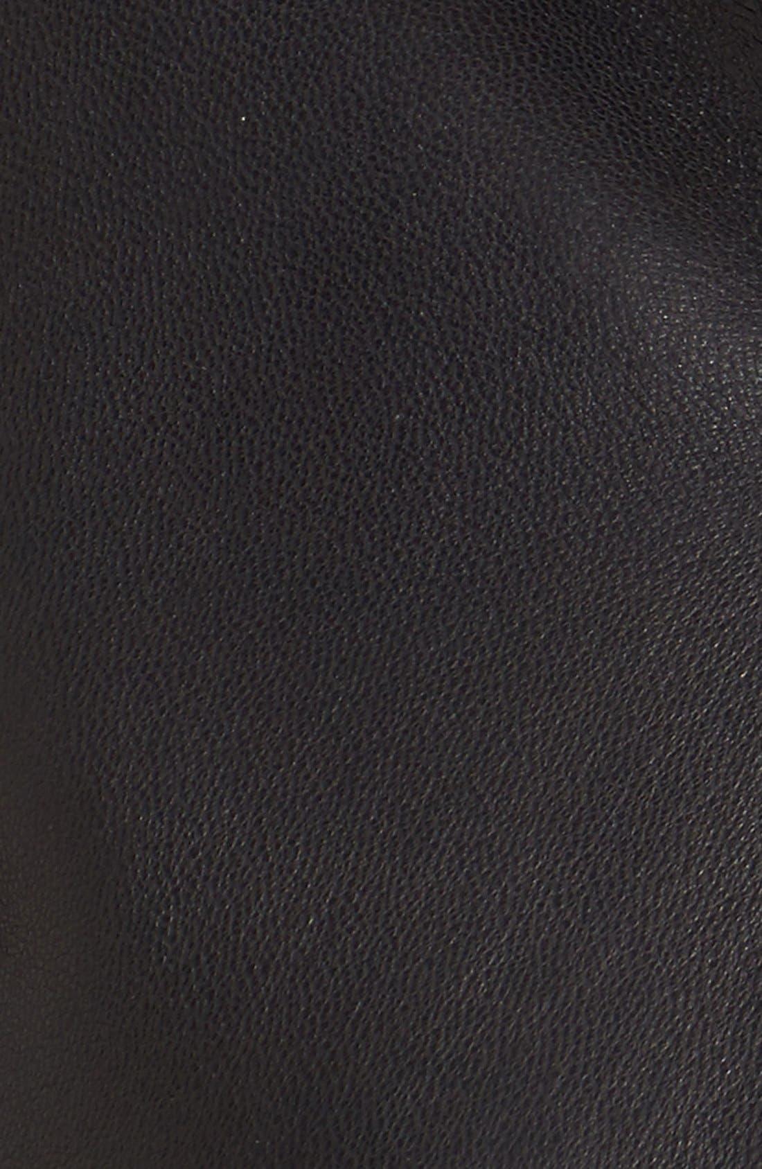 Alternate Image 5  - Vince Camuto Trapunto Leather Jacket