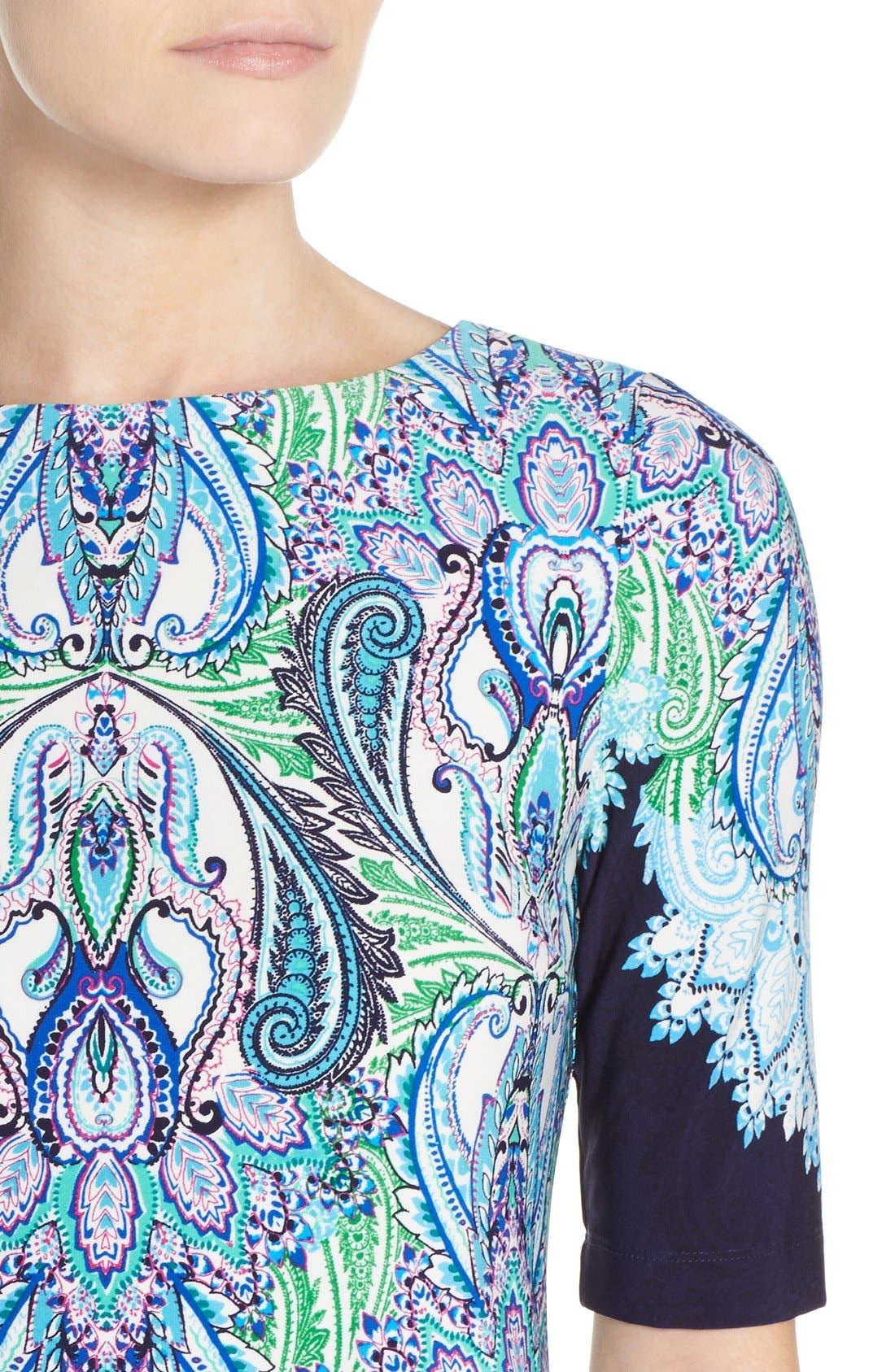 Alternate Image 5  - Eliza J Print Jersey Shift Dress (Regular & Petite)