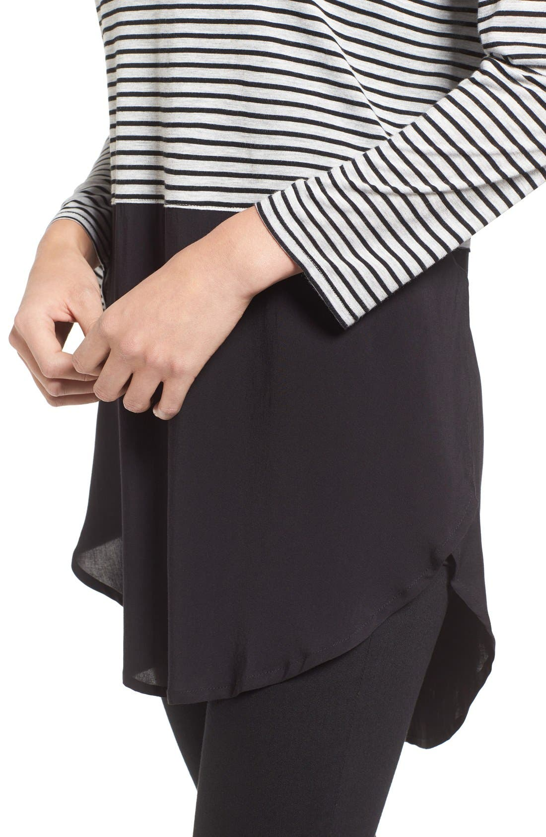 Alternate Image 4  - Two by Vince Camuto 'Anchor Stripe' Mixed Media Tunic