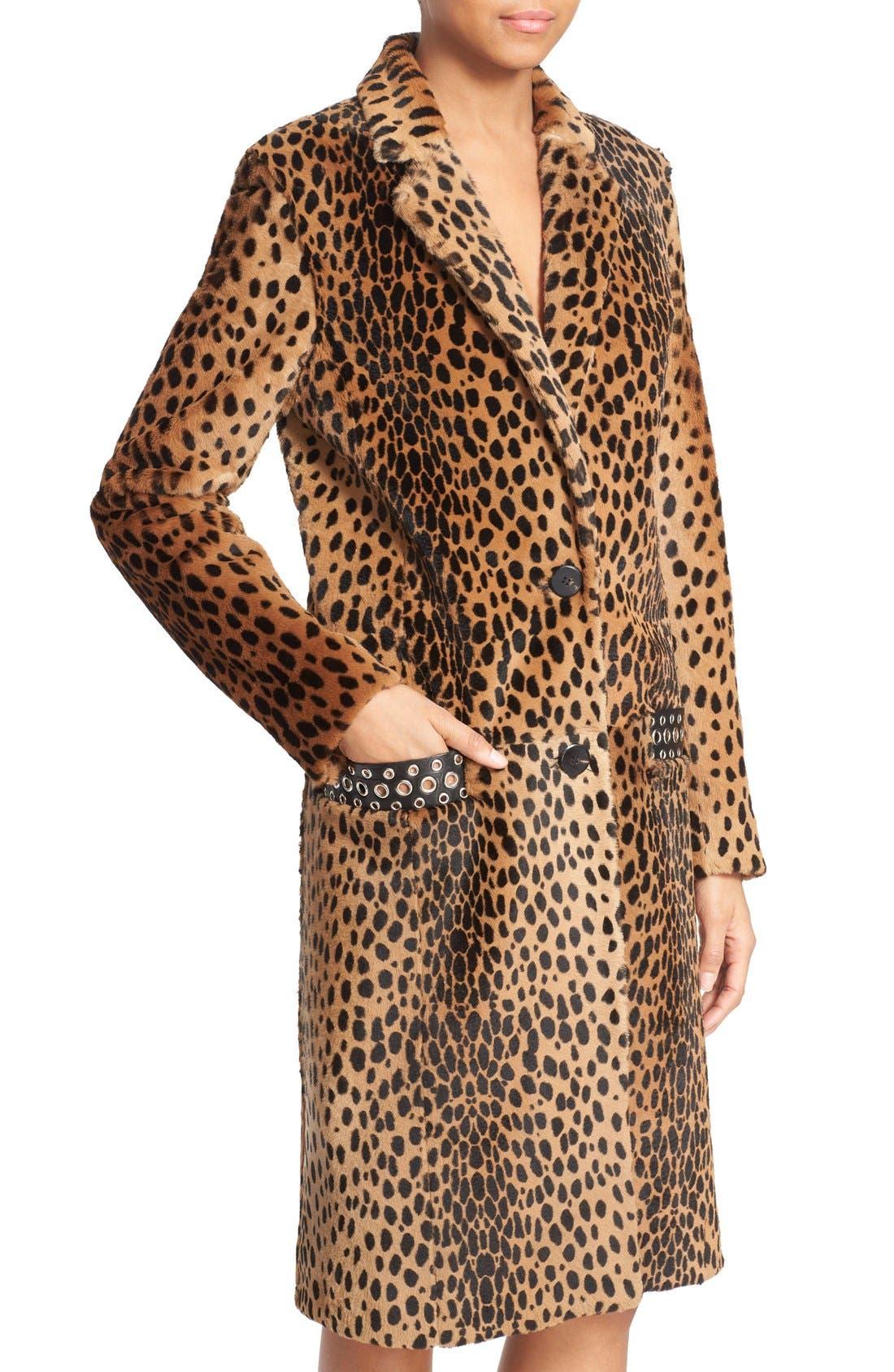 Alternate Image 6  - Alexander Wang Cheetah Print Genuine Kangaroo Fur Coat
