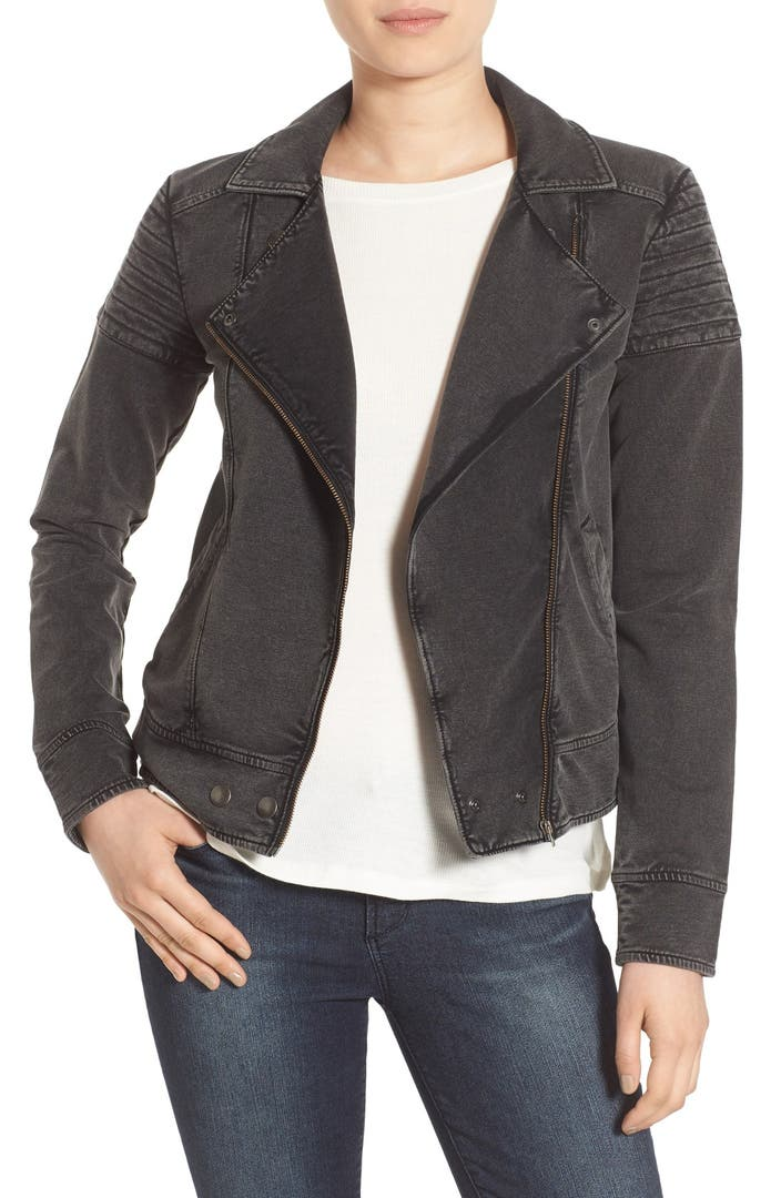This Halogen Knit Moto Jacket ($99) feels like a sweater.
