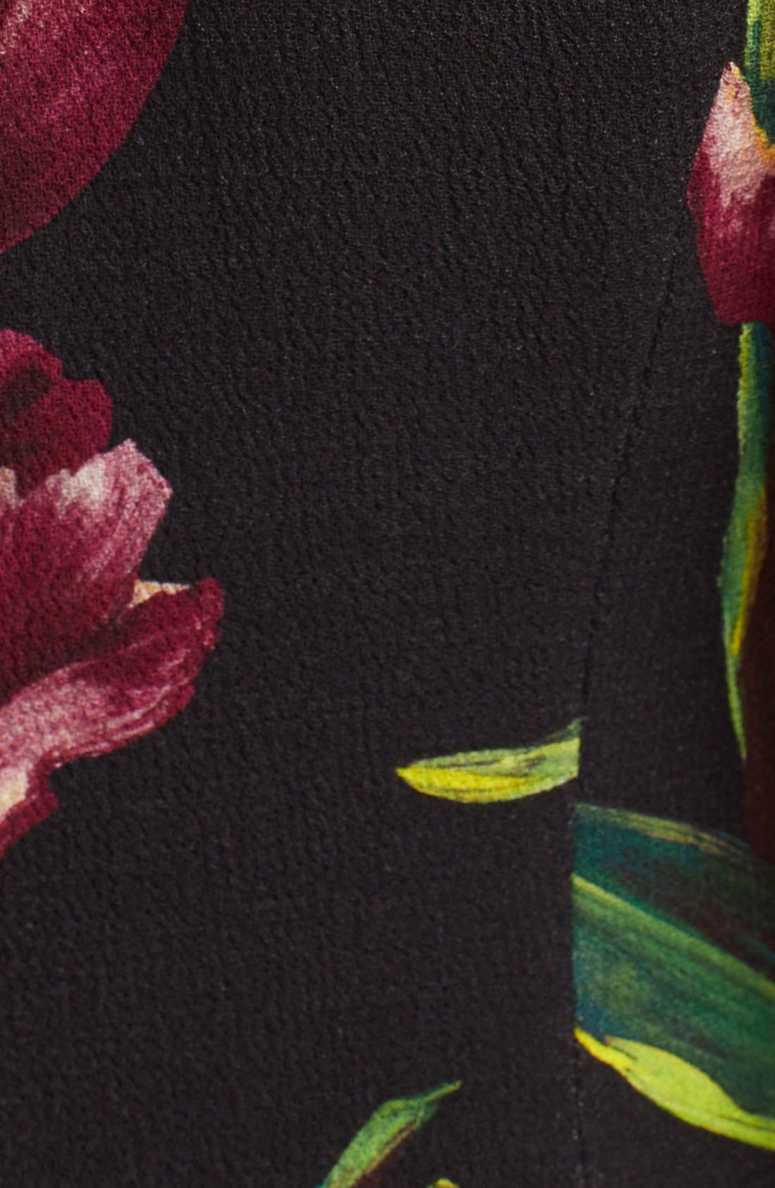 Alternate Image 3  - Dolce&Gabbana Tulip Print Wool A-Line Dress