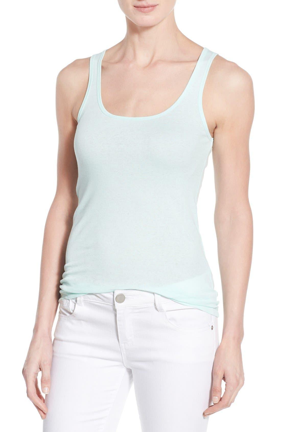 Main Image - Caslon® Knit Cotton Tank