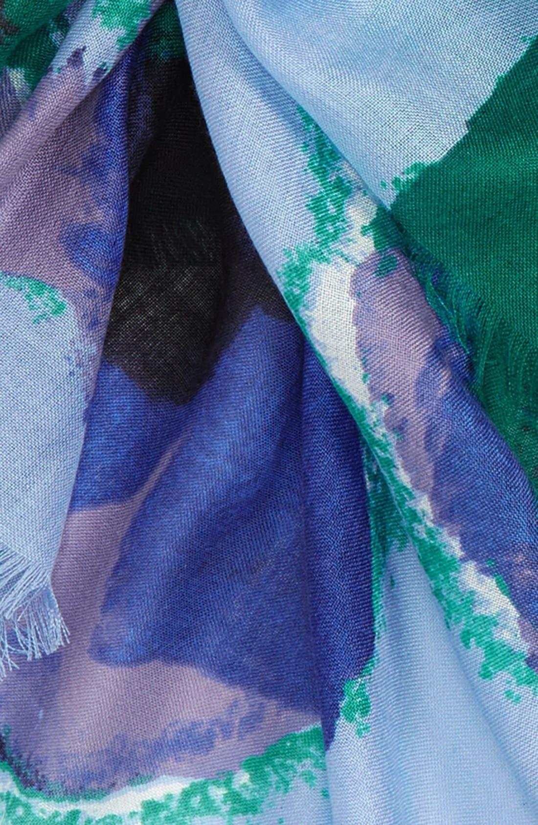Alternate Image 3  - Nordstrom Floral Cashmere & Silk Scarf