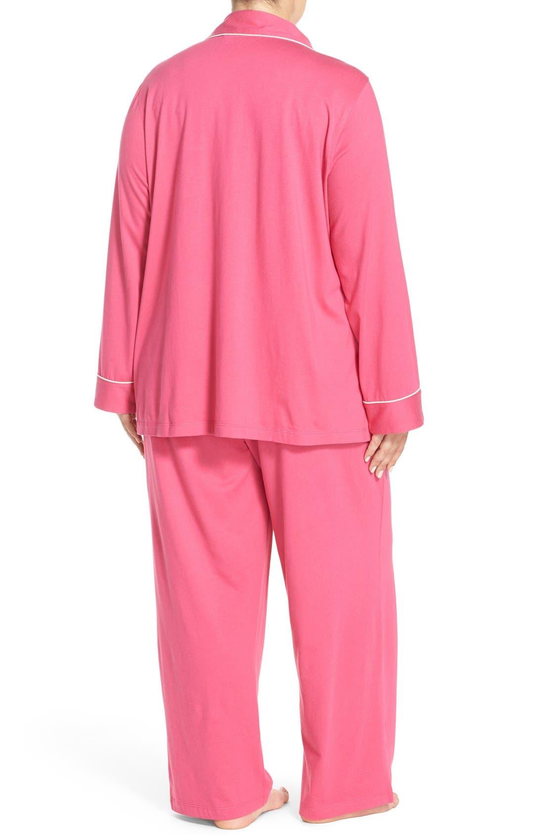 Alternate Image 2  - Lauren Ralph Lauren Knit Pajamas (Plus Size) (Online Only)