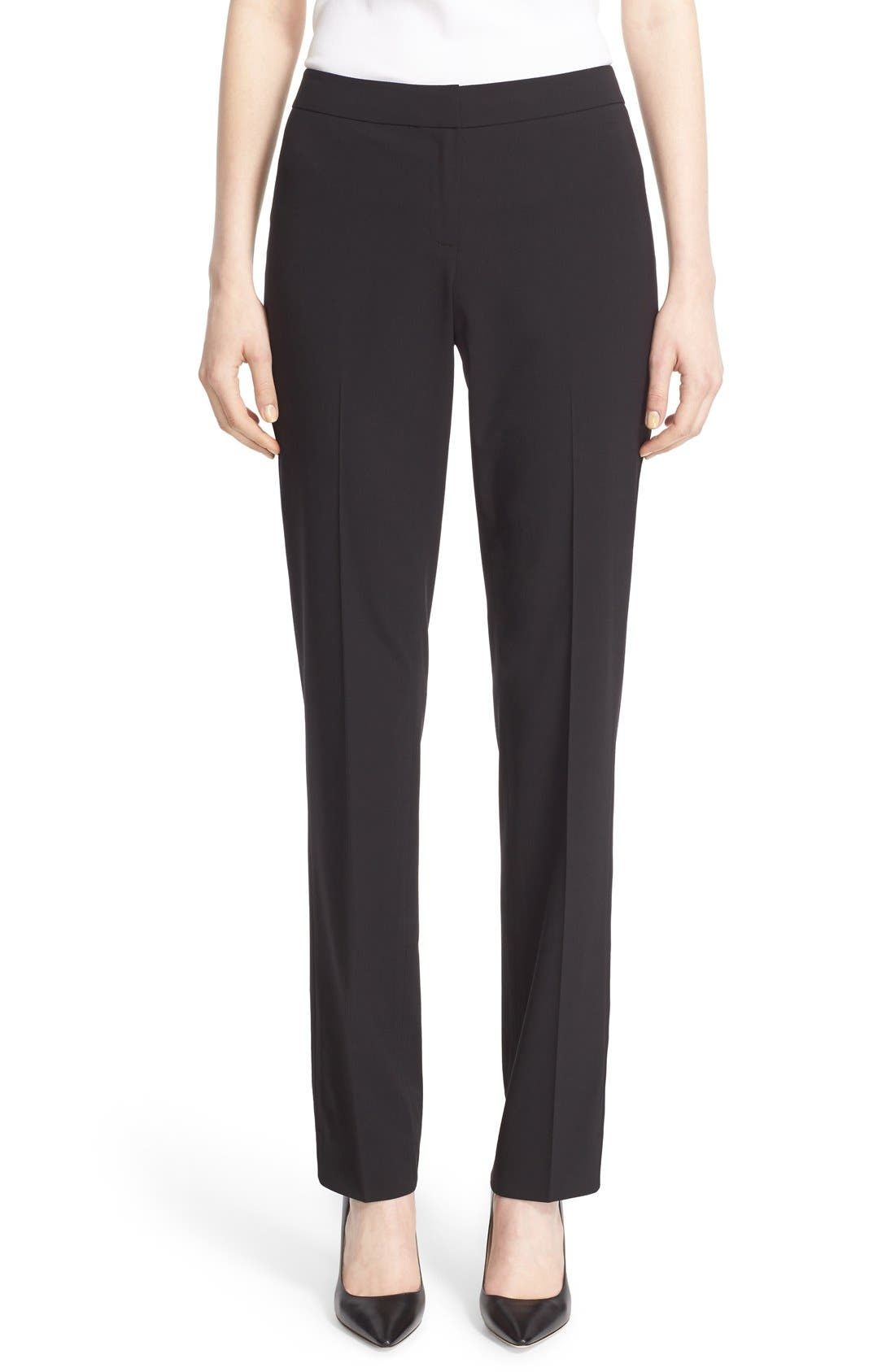 Main Image - Lafayette 148 New York 'Barrow' Stretch Wool Pants
