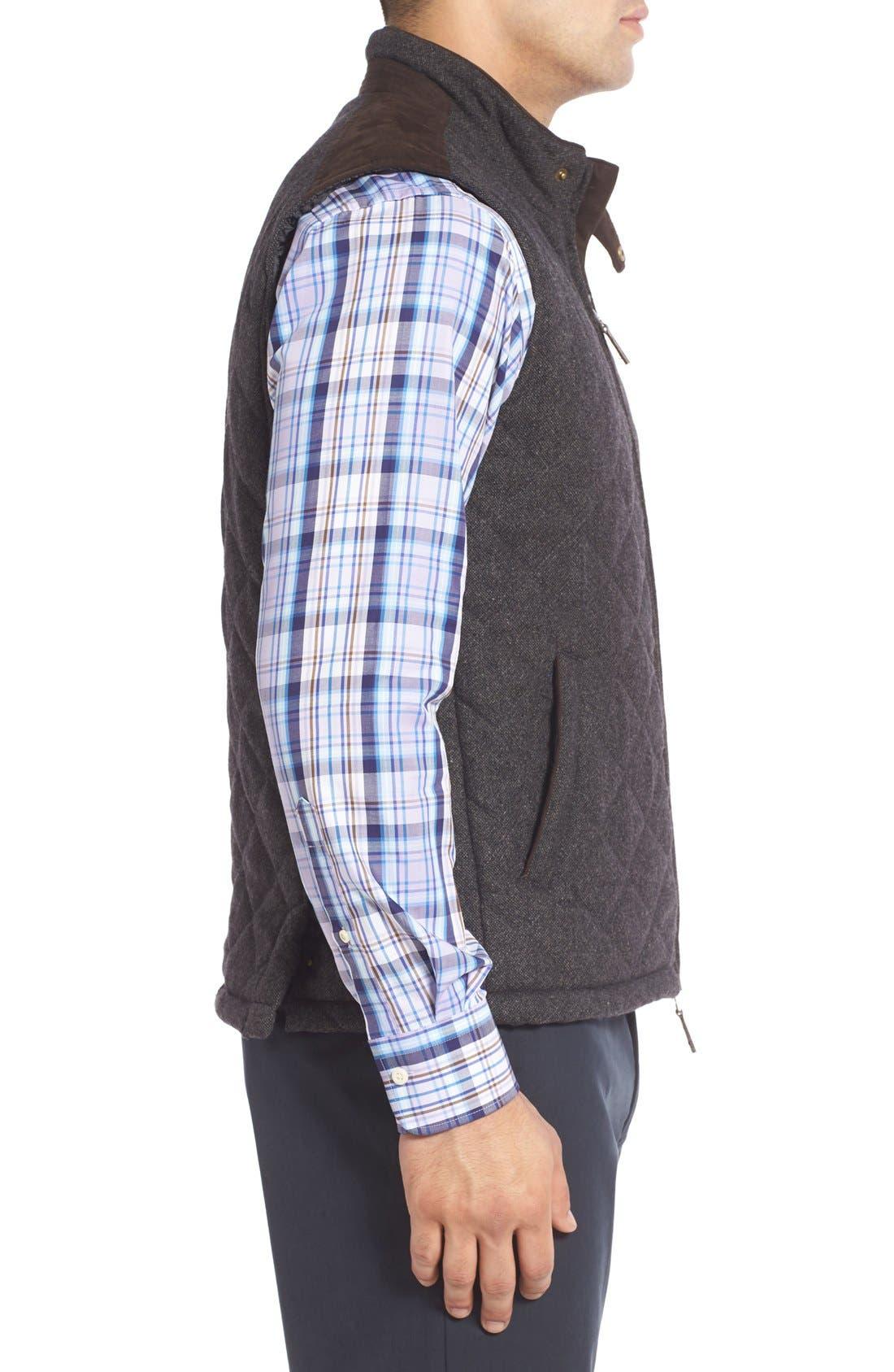 Alternate Image 3  - John W. Nordstrom Regular Fit Quilted Tweed Vest