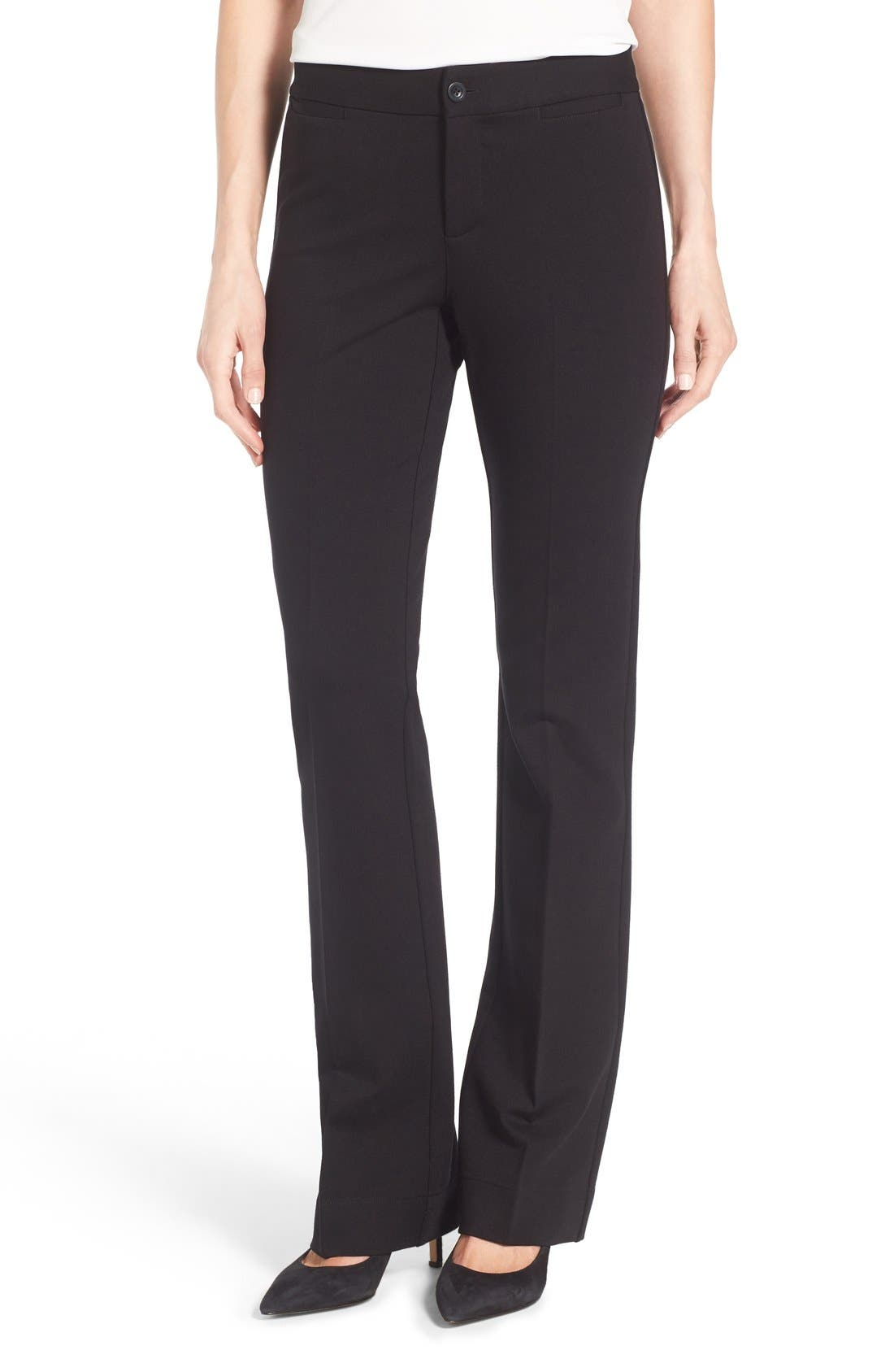 Alternate Image 1 Selected - NYDJ Michelle Stretch Ponte Trousers (Regular & Petite)