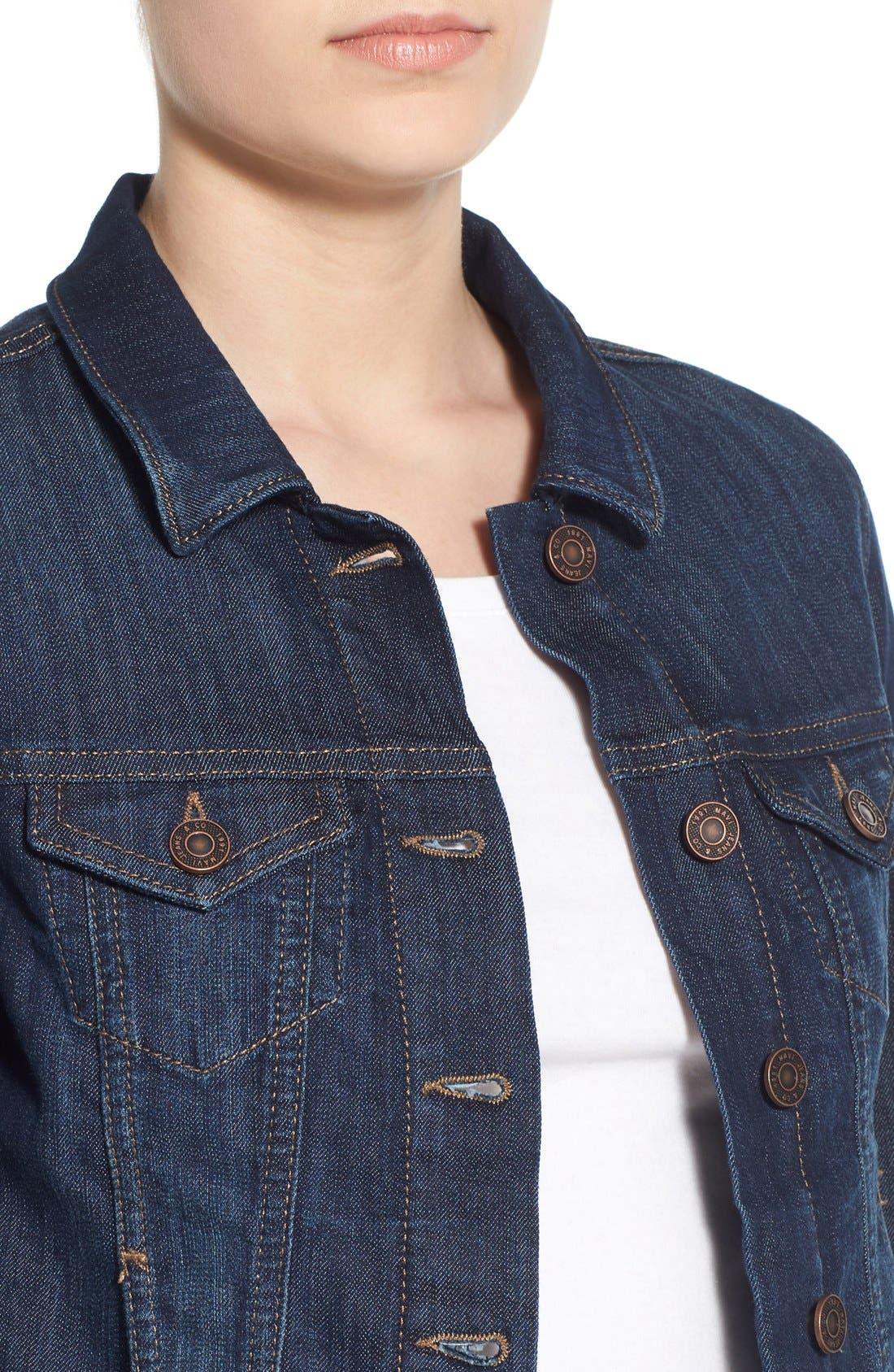 Alternate Image 4  - Mavi Jeans 'Samantha' Denim Jacket
