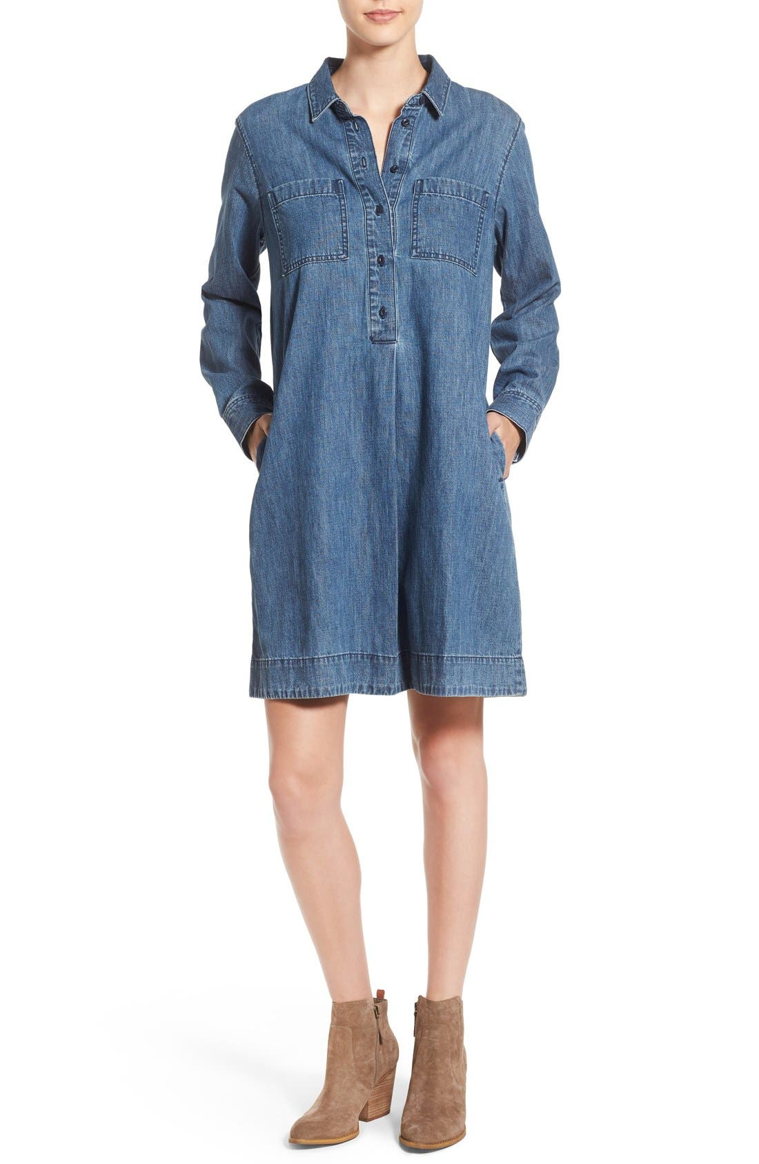 Alternate Image 1 Selected - Madewell Denim Shirtdress