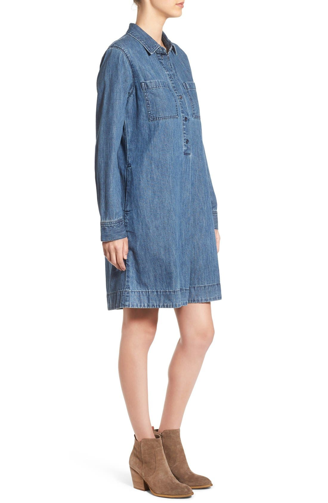 Alternate Image 3  - Madewell Denim Shirtdress
