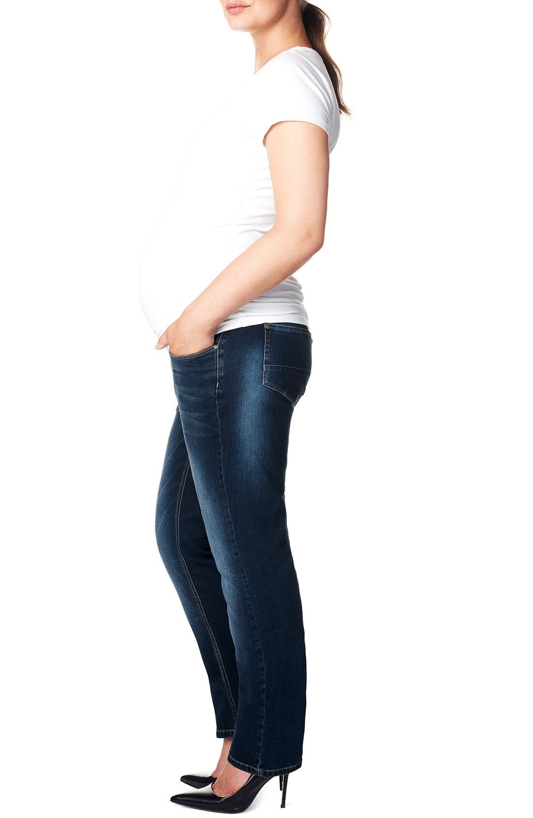 Alternate Image 3  - Noppies 'Mena Comfort' Over the Belly Straight Leg Maternity Jeans (Plus Size)