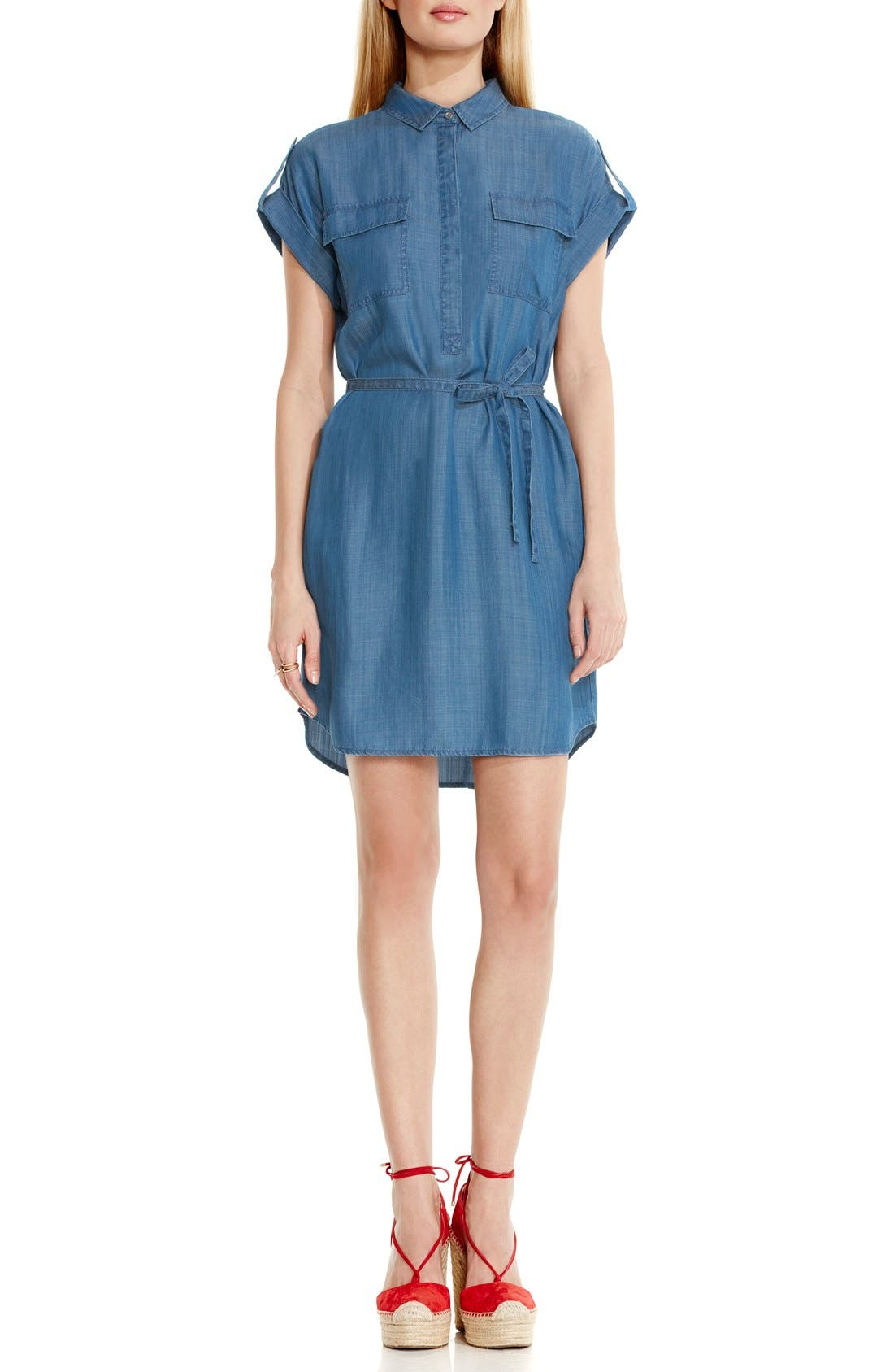 Alternate Image 2  - Two by Vince Camuto Belted Chambray Shirtdress