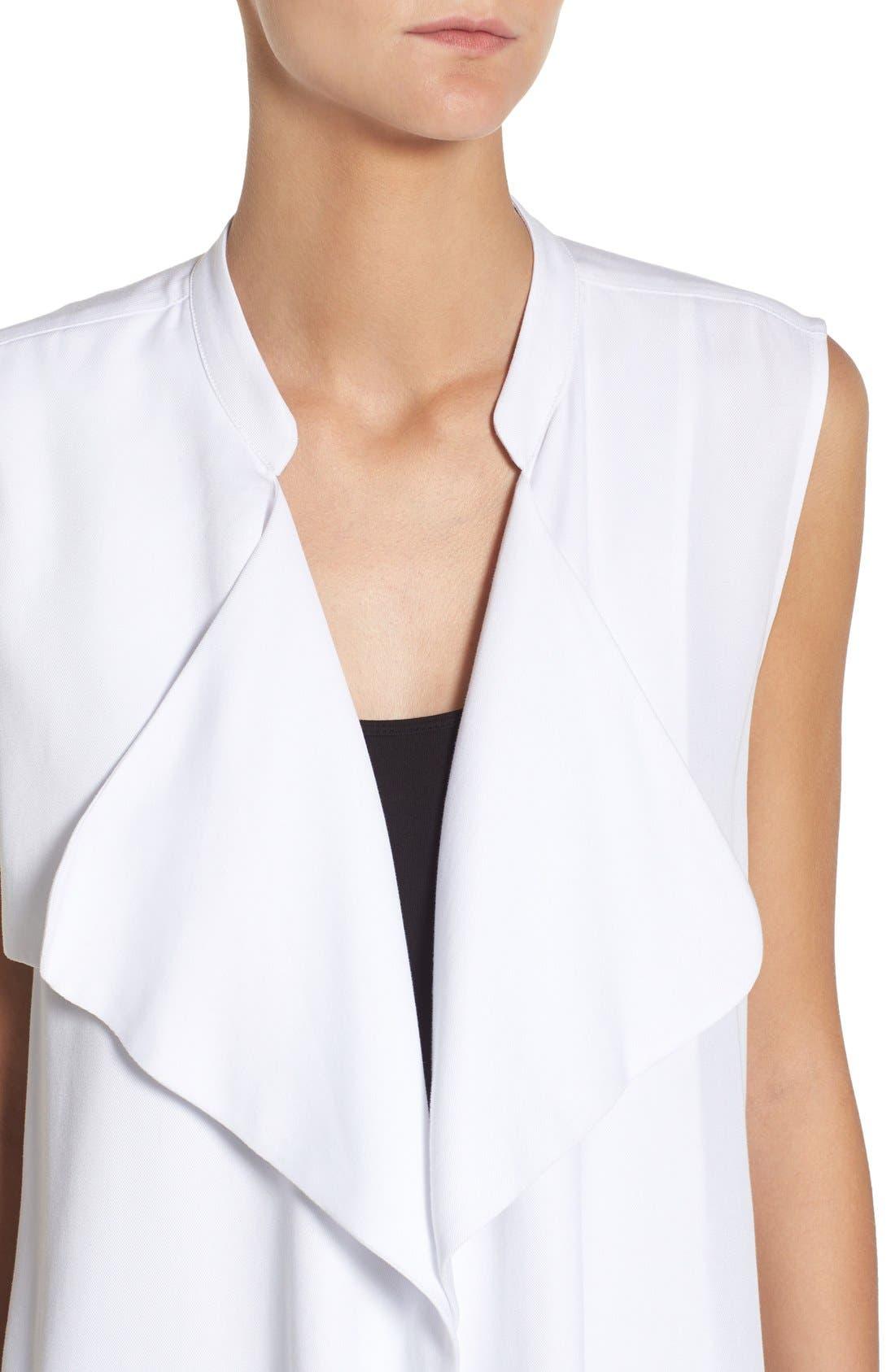 'Sara' Long Vest,                             Alternate thumbnail 4, color,                             White