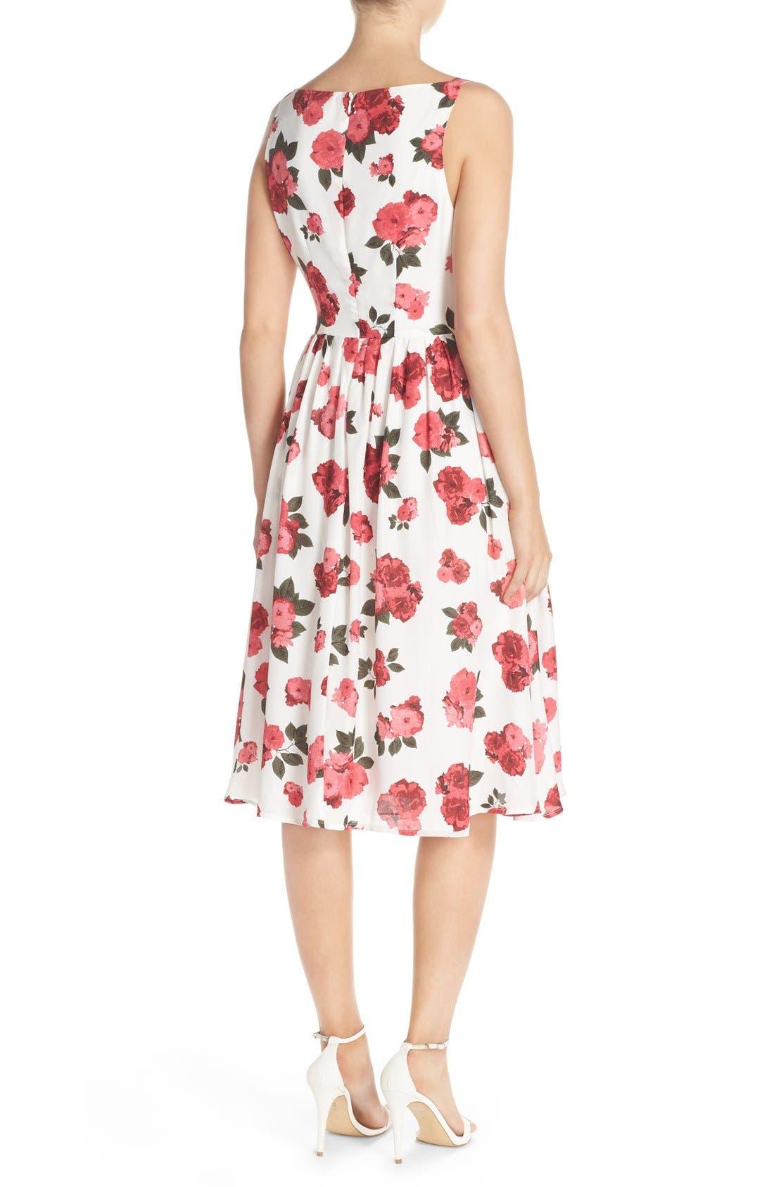 Alternate Image 2  - BB Dakota 'Claudia' Floral Crepe Fit & Flare Dress