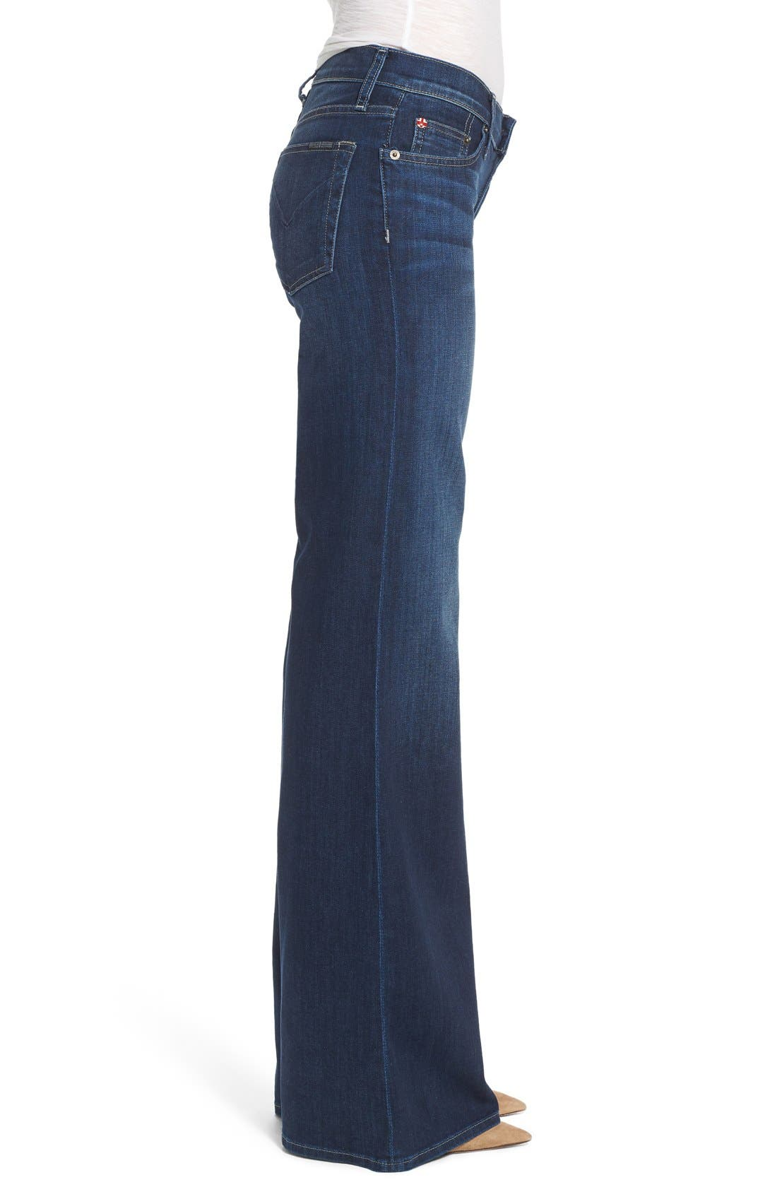 Alternate Image 3  - Hudson Jeans Piper Wide Leg Jeans (Thruway)